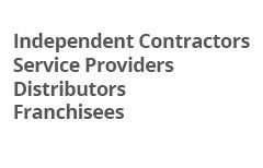 Independent Contractors/Service Providers/Distributors/Franchisees