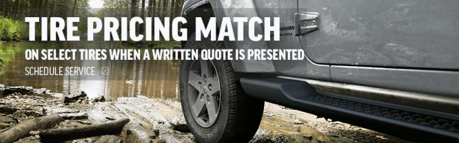 Tire Pricing Match