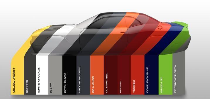 Dodge Challenger Colors